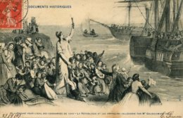 CPA -  DEPART POUR L'EXIL DES CONDAMNES DE 1848 - Histoire