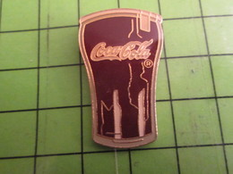 712F Pins Pin's / Rare & De Belle Qualité  THEME : COCA-COLA / GRAND VERRE DE COKE - Coca-Cola