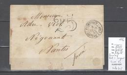 France - Lettre En Port Dû - Cachet Paimboeuf Bateau à Vapeur - 1856 - Marcophilie (Lettres)
