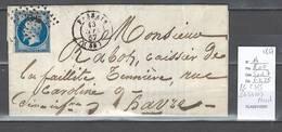 France - Yvert 14 - PC 2385 - Passais Dans Le Nord - 1857 - Marcophilie (Lettres)