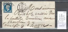 France - Yvert 14 - PC 2385 - Passais Dans Le Nord - 1857 - Postmark Collection (Covers)