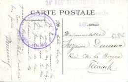 N°67836- Cachet 24è Régiment Territorial D'infanterie - Marcophilie (Lettres)