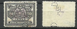 USA State Of New York Stock Transfer Tax 20 Cents, Used - Fiscaux