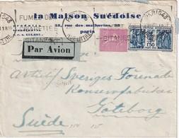 FRANCE 1931 PLI AERIEN DE PARIS POUR GÖTEBORG - 1921-1960: Période Moderne