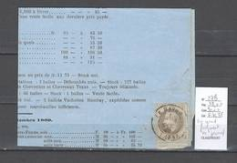 France - Yvert 27B - 4 Centimes Napoléon Lauré Sur Grand Fragment - 1869 - 1863-1870 Napoleon III With Laurels