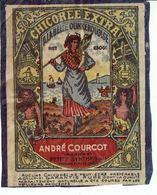 """Etiquette """" A LA BELLE DUNKERQUOISE """" Chicorée Extra. André Courcot ¨Petite Synthe - Autres Collections"""