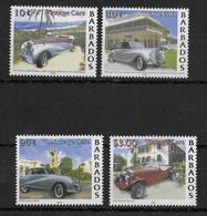 BARBADOS - 2000 - SERIE AUTOMOBILE ** MNH  - YVERT 1039/1042 - Barbados (1966-...)