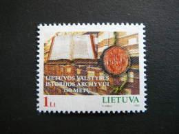 State History Archives # Lietuva Litauen Lituanie Litouwen Lithuania # 2002 MNH # Mi. 789 - Lithuania