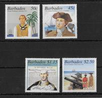 BARBADOS - 2001 - SERIE WASHINGTON ** MNH  - YVERT 1056/1059 - Barbades (1966-...)