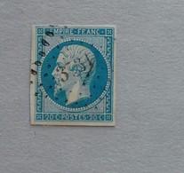 OBLITERATION LOSANGE PETITS CHIFFRES 3731 DE NEMOURS ( ALGERIE) - 1853-1860 Napoleon III