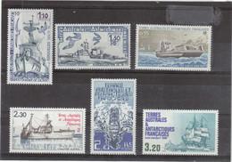 V17 - TAAF - Entre PO79 Et PO129** MNH ( 1979-1987) 6 Timbres BATEAUX Aux TAAF(PO79-80-95-100-120-129) - Terres Australes Et Antarctiques Françaises (TAAF)