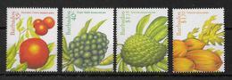 BARBADOS - 1997 - SERIE FRUITS ** MNH  - YVERT 970/973 - Barbades (1966-...)