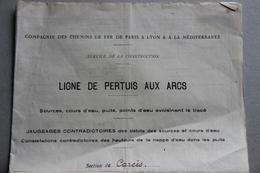 Compagnie PLM, Ligne De Pertuis Aux Arcs, Section De Carcès, Montfort-sur-Argens (Var), 1931-34 - Chemin De Fer