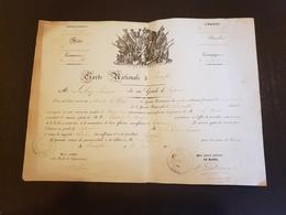 Brevet Militaire  Garde Nationale  élu Au Grade De Caporal 1834 Diplome  PRIX FIXE - Historical Documents