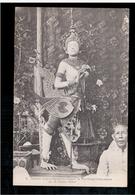 CAMBODIA  Cambodge Statue Cambodgienne Ornant Le Pavillon Crematoire De La Reine Mere Ca 1910 OLD POSTCARD 2 Scans - Cambodia