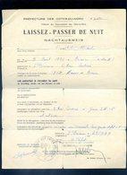 Laissez Passer De Nuit Saint Brieuc 25 Mars 1944   KX - 1939-45