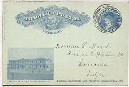 URUGUAY ENTERO POSTAL 1911 ESCUELA DE ARTES Y OFICIOS SCHOOL MONTEVIDEO - Uruguay