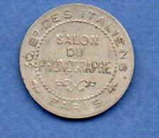 Paris  - Jeton  -   Salon Du Phonographe   --  état  TTB - Firma's