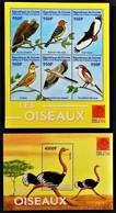 Guinee 2001** Klb.3202-07 + Bl.656 Birds [10;18,129,131] - Birds