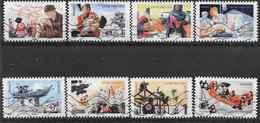 2015 FRANCE Adhesifs 1132-39 Oblitérés, Croix-rouge, Série Complète - Adhésifs (autocollants)