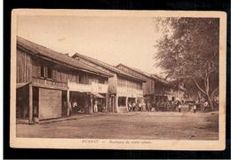 CAMBODIA  Cambodge Pursat Boutiques Du Centre Urbain  Ca 1930 OLD POSTCARD 2 Scans - Cambodia