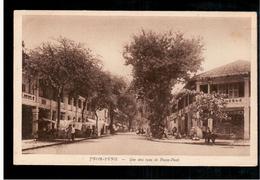 CAMBODIA  Cambodge Pnom-Penh - Une Des Rues De Pnom-Penh Ca 1930 OLD POSTCARD 2 Scans - Cambodia