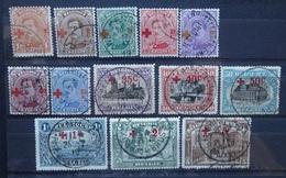 BELGIE   1918     Nr. 150 - 162   Mooie Stempels      Gestempeld      CW  570,00 - 1918 Croix-Rouge