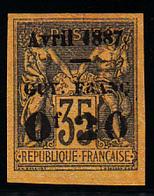 """GUYANE - N°  4 - Surcharge """" F.a.A """" (timbre émis Sans Gomme) - Très Frais Et Belles Mages. - Guyane Française (1886-1949)"""