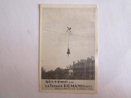Publicité Cirque Vélo Souvenir De La Troupe Romani Frères équilibristes Acrobates - Reclame