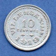 Geix  -  10 Centimes 1919  -  état  SUP - Monetary / Of Necessity