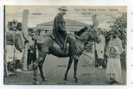 Uganda Right Rev. Bishop Tucker On Horse Postcard 1910s-20s Kampala - Uganda