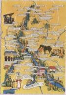 CPSM - LA SUISSE NORMANDE - Illustration Di MARIO - Edition Di Mario - Cartes Géographiques