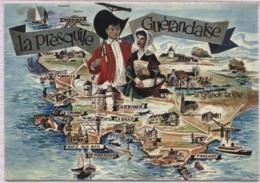 CPM - LA PRESQU'ILE GUERANDAISE - Illustration - Edition Artaud - Cartes Géographiques