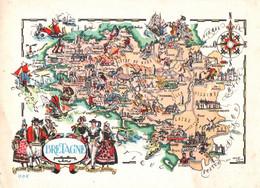CPM - BRETAGNE - Illustration Jacques LIOZU - Edition Jean-Pierre - Cartes Géographiques