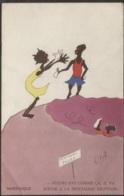 CPA - MARTINIQUE - FANTAISIE HUMOUR ... Montagne PELEE - Illustration Signée OLOUF - Edition S.A.E.C. - Martinique