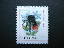 Bumble Bees. Insects # Lietuva Litauen Lituanie Litouwen Lithuania # 1999 MNH # Mi. 699 Without Glue - Lithuania