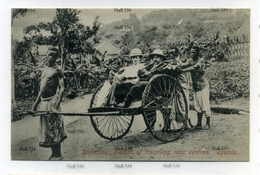 Uganda Rickshaw Method Of Travelling Near Centres Postcard 1910s-20s Kampala - Uganda