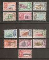 CAYMAN ISLANDS 1950 SET SG 135/147 LIGHTLY MOUNTED MINT Cat £80 - Cayman Islands