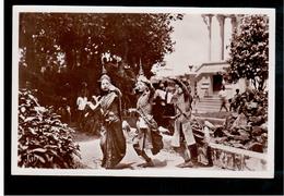 CAMBODIA  Cambodge Phnom-Penh - Trois Danseuses Royales à L'interieur Du Palais Ca 1930 OLD PHOTO POSTCARD 2 Scans - Cambodia