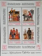 "Denmark 1986 HAFNIA ""87 Miniature Sheet - Denmark"