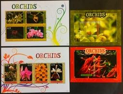 Grenadines Of St.Vincent 2011** Mi. Klb.209-212,Klb.205-08, Bl.19, Bl.20 Orchids MNH [8;107][10;29,120] - Orchidées