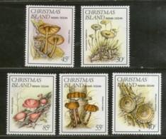 Christmas Islands 1984 Mushrooms Fungi Plant Sc 152-56 MNH # 1030 - Mushrooms