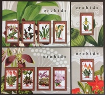 Mustique 2011** Full Set (Orchids) [12;112][10;112,30][12;3] - Orchideen