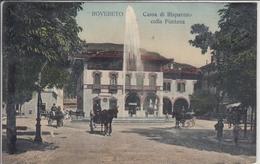 ROVERETO  CASSA DI RISPARMIO COLLA FONTANA  VIAGGIATA 1910 - Italia