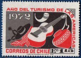 Chili 1972 Guitar & Sombrero 1 Value MNH - Musique