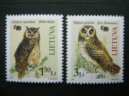 Red Book Of Lithuania.Owls. Birds # Lietuva Litauen Lituanie Litouwen Lithuania 2004 MNH # Mi. 857/8 - Lithuania