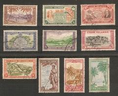 COOK ISLANDS 1949 SET SG 150/159 FINE USED Cat £60 - Cook Islands