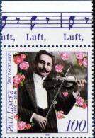 Germany 1996 Paul Lincke Composer Violinist 1 Value MNH - Musique