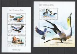 WW269 2013 TOGO TOGOLAISE FAUNA WATER BIRDS LES OISEAUX D'EAU KB+BL MNH - Oiseaux
