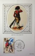 Great Britain  983  British Regiments F.D.C. Silk - 1952-.... (Elizabeth II)